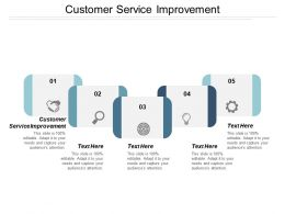 Customer Service Improvement Ppt Powerpoint Presentation Pictures Format Ideas Cpb
