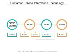 Customer Service Information Technology Ppt Powerpoint Presentation Outline Graphics Cpb