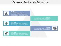 Customer Service Job Satisfaction Ppt Powerpoint Presentation File Slide Download Cpb