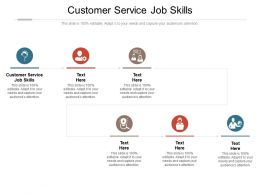 Customer Service Job Skills Ppt Powerpoint Presentation Infographics Mockup Cpb