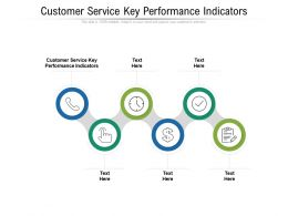Customer Service Key Performance Indicators Ppt Powerpoint Presentation Professional Outline Cpb