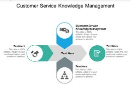 Customer Service Knowledge Management Ppt Powerpoint Presentation Icon Graphics Cpb