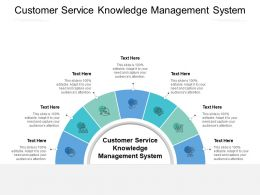 Customer Service Knowledge Management System Ppt Powerpoint Presentation Styles Vector Cpb