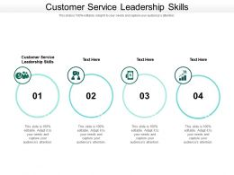Customer Service Leadership Skills Ppt Powerpoint Presentation Model Samples Cpb