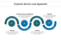 Customer Service Level Agreement Ppt Powerpoint Professional Examples Cpb