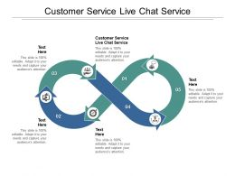 Customer Service Live Chat Service Ppt Powerpoint Presentation Model Themes Cpb