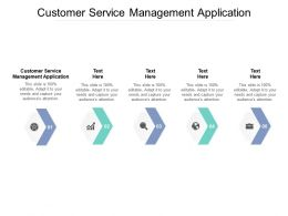 Customer Service Management Application Ppt Powerpoint Presentation Professional Inspiration Cpb