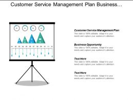 Customer Service Management Plan Business Opportunity Sales Marketing Cpb