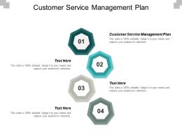 Customer Service Management Plan Ppt Powerpoint Presentation Pictures Graphic Tips Cpb