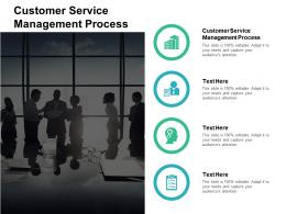 Customer Service Management Process Ppt Powerpoint Presentation Ideas Background Designs Cpb
