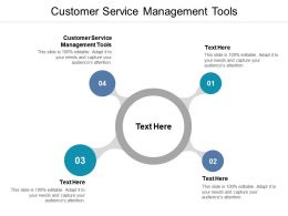 Customer Service Management Tools Ppt Powerpoint Presentation Introduction Cpb
