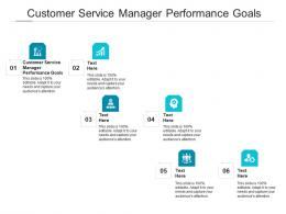 Customer Service Manager Performance Goals Ppt Powerpoint Presentation Inspiration Demonstration Cpb