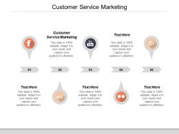 Customer Service Marketing Ppt Powerpoint Presentation File Master Slide Cpb