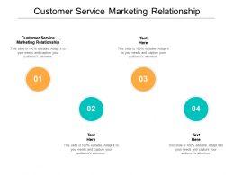 Customer Service Marketing Relationship Ppt Powerpoint Presentation Show Information Cpb