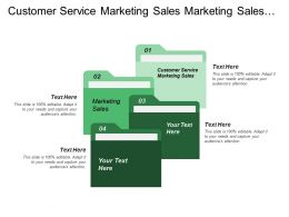 Customer Service Marketing Sales Marketing Sales Human Resources
