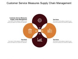 Customer Service Measures Supply Chain Management Ppt Powerpoint Presentation Infographics Display Cpb