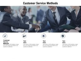 Customer Service Methods Ppt Powerpoint Presentation Icon Background Image Cpb