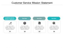 Customer Service Mission Statement Ppt Powerpoint Presentation Slides Cpb
