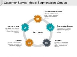 Customer Service Model Segmentation Groups Digital Footprint Cpb