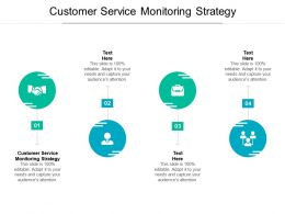 Customer Service Monitoring Strategy Ppt Powerpoint Presentation Visuals Cpb