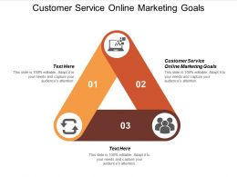 Customer Service Online Marketing Goals Ppt Powerpoint Presentation Infographic Template Images Cpb