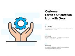 Customer Service Orientation Icon With Gear