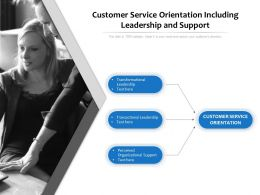 Customer Service Orientation Including Leadership And Support