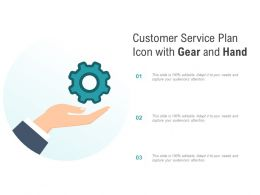 Customer Service Plan Icon With Gear And Hand