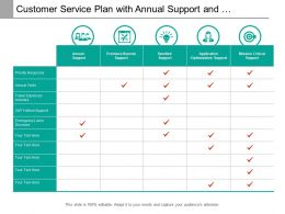 Customer Service Plan With Annual Support And Application Optimization