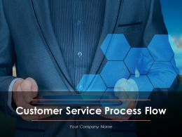 Customer Service Process Flow Powerpoint Presentation Slides