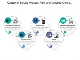 Customer Service Process Flow With Creating Online Account Analysis And Report Generation