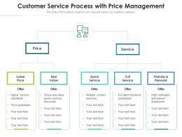 Customer Service Process With Price Management