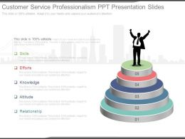 Customer Service Professionalism Ppt Presentation Slides
