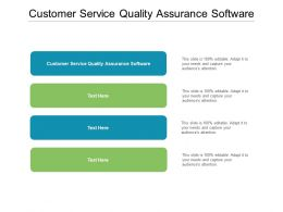 Customer Service Quality Assurance Software Ppt Powerpoint Presentation Outline Templates Cpb