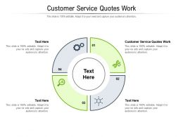 Customer Service Quotes Work Ppt Powerpoint Presentation Icon Example Cpb