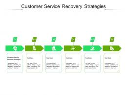 Customer Service Recovery Strategies Ppt Powerpoint Presentation Gallery Design Ideas Cpb