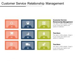 Customer Service Relationship Management Ppt Powerpoint Presentation Icon File Formats Cpb