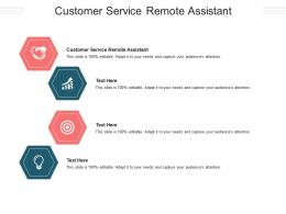 Customer Service Remote Assistant Ppt Powerpoint Presentation Gallery Maker Cpb