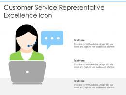 Customer Service Representative Excellence Icon