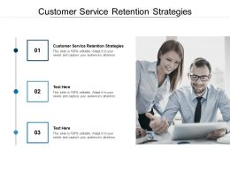 Customer Service Retention Strategies Ppt Powerpoint Presentation Styles Grid Cpb