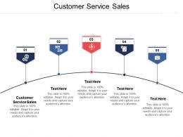Customer Service Sales Ppt Powerpoint Presentation File Introduction Cpb