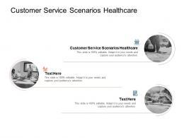 Customer Service Scenarios Healthcare Ppt Powerpoint Presentation Pictures Cpb