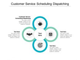 Customer Service Scheduling Dispatching Ppt Powerpoint Presentation Gallery Visual Aids Cpb