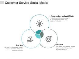 Customer Service Social Media Ppt Powerpoint Presentation Portfolio Styles Cpb