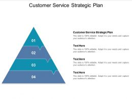 Customer Service Strategic Plan Ppt Powerpoint Presentation Model Slides Cpb