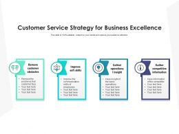 Customer Service Strategy For Business Excellence