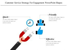 Customer Service Strategy For Engagement Powerpoint Shapes