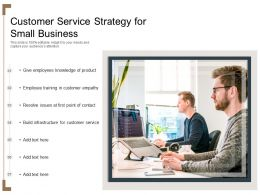 Customer Service Strategy For Small Business