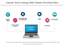Customer Service Strategy Multi Channels Powerpoint Show