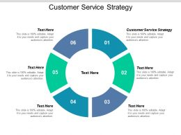 Customer Service Strategy Ppt Powerpoint Presentation Icon Influencers Cpb